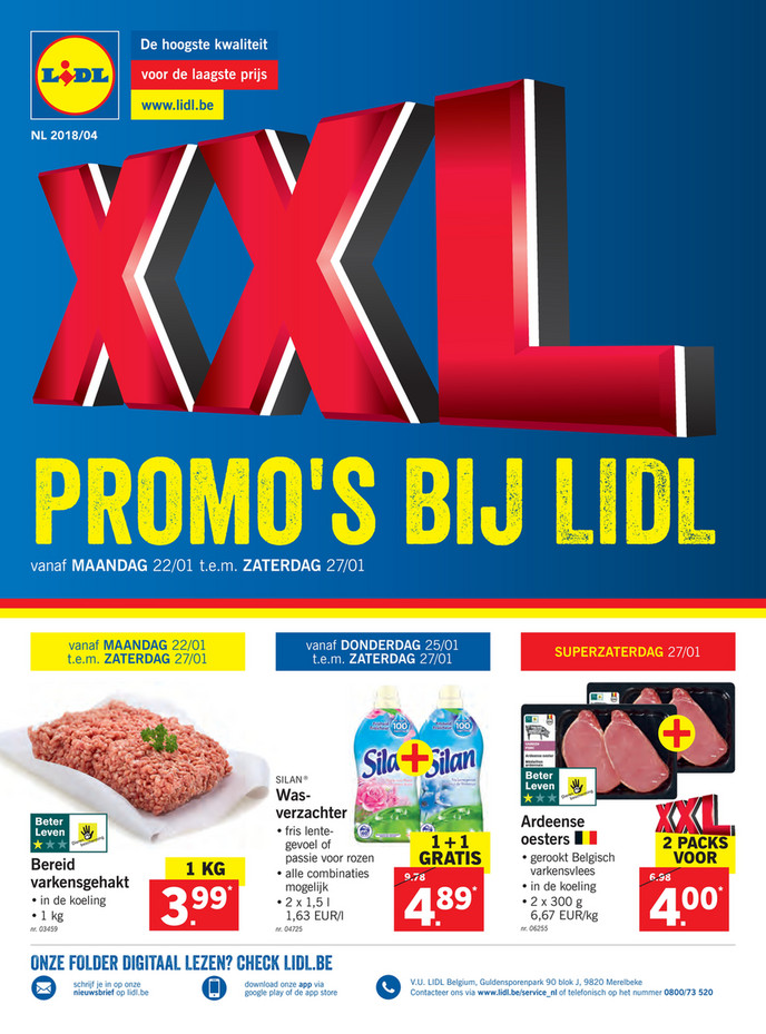 Lidl folder van 18/01/2018 tot 27/01/2018 - Promo januari week 4