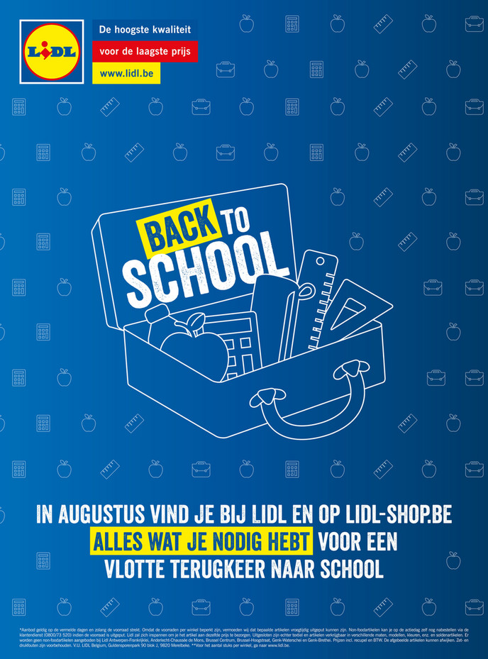 Lidl folder van 02/08/2018 tot 25/08/2018 - Lidl Back to school NL