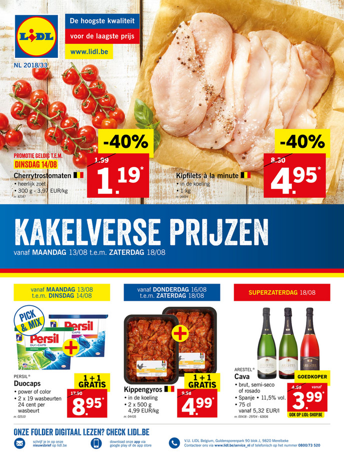 Lidl folder van 13/08/2018 tot 18/08/2018 - Promoties van de week