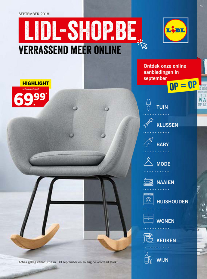 Lidl folder van 04/09/2018 tot 30/09/2018 - Magazine September