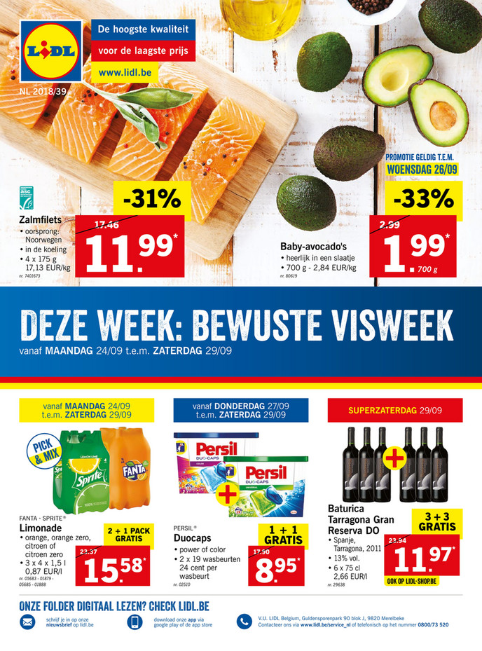 Lidl folder van 24/09/2018 tot 29/09/2018 - Weekpromoties 39