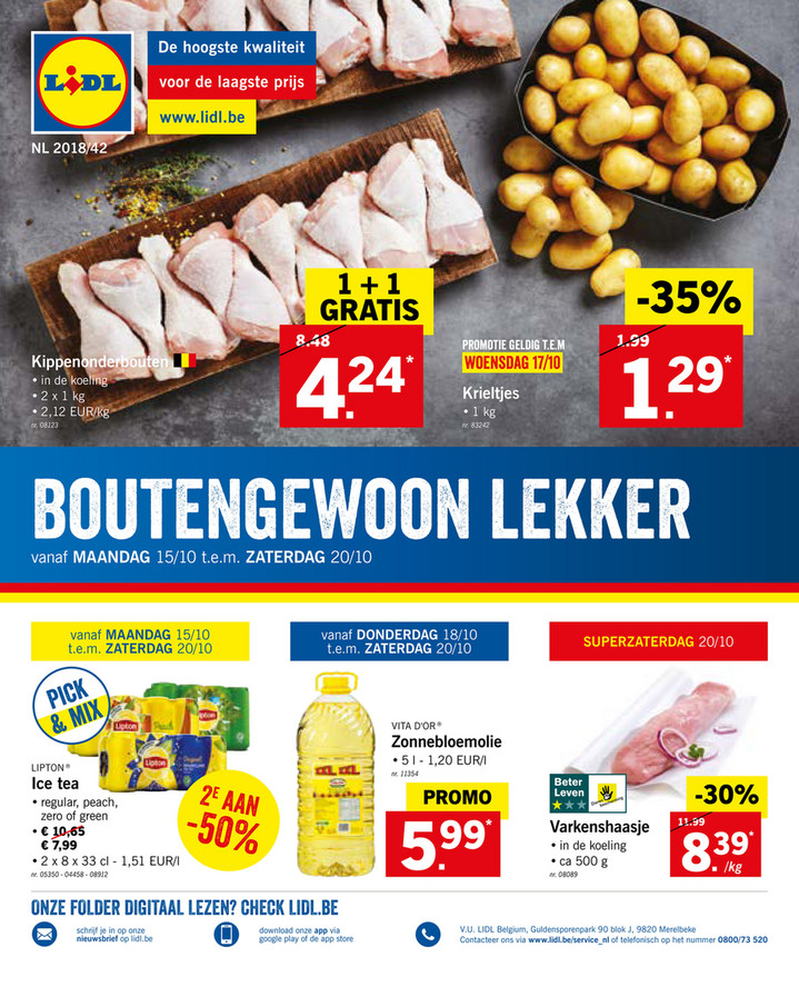 Lidl folder van 15/10/2018 tot 21/10/2018 - Weekpromoties 42