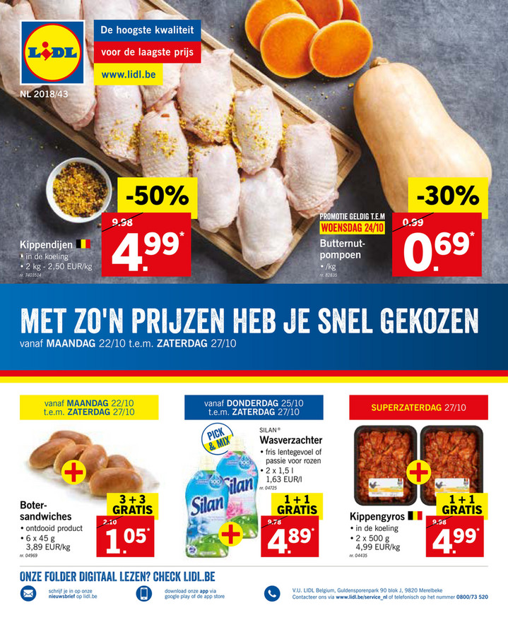 Lidl folder van 22/10/2018 tot 27/10/2018 - Weekpromoties 43