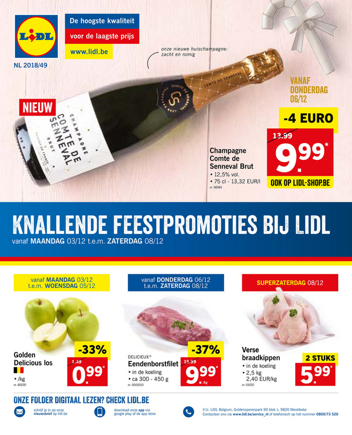 Lidl folder van 03/12/2018 tot 08/12/2018 - Weekpromoties 49
