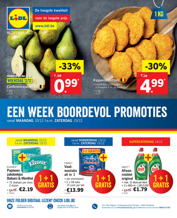 Lidl folder van 10/12/2018 tot 15/12/2018 - Weekpromoties 50