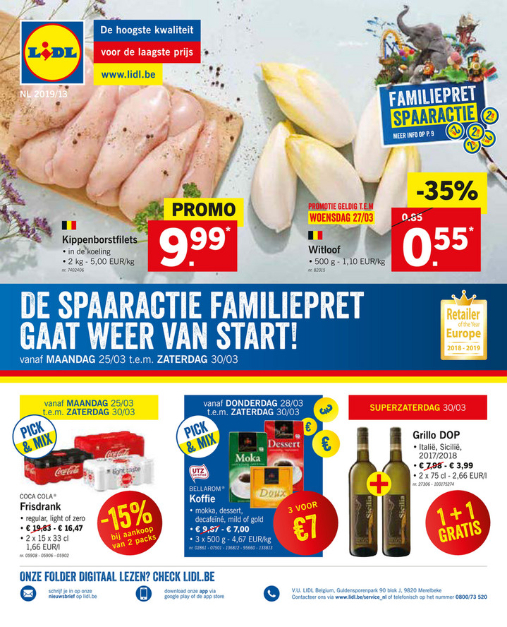Lidl folder van 25/03/2019 tot 30/03/2019 - Weekpromoties 13