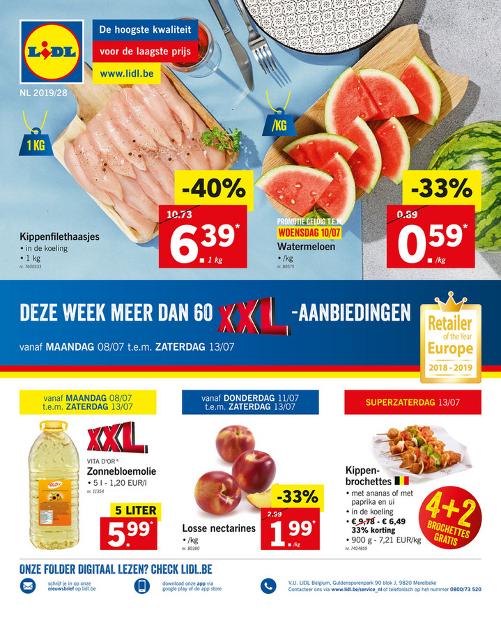 Lidl folder van 08/07/2019 tot 13/07/2019 - Weekpromoties 28