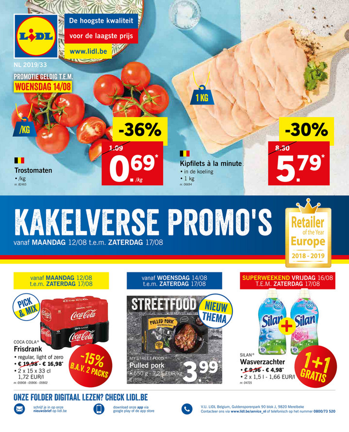 Lidl folder van 12/08/2019 tot 17/08/2019 - Weekpromoties 33