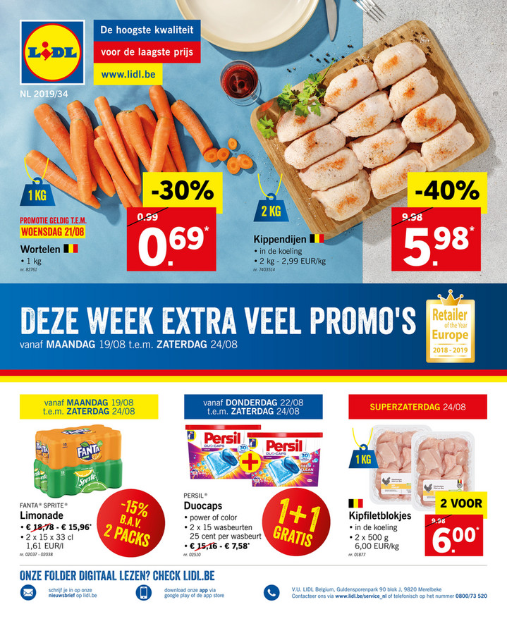 Lidl folder van 19/08/2019 tot 24/08/2019 - Weekpromoties 34