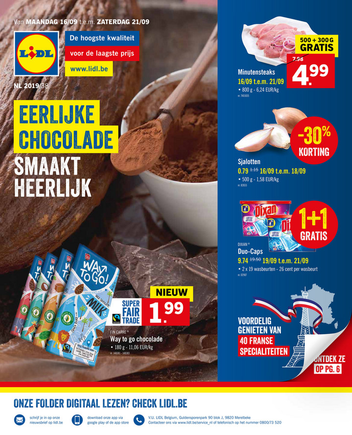 Lidl folder van 16/09/2019 tot 21/09/2019 - Weekpromoties 38