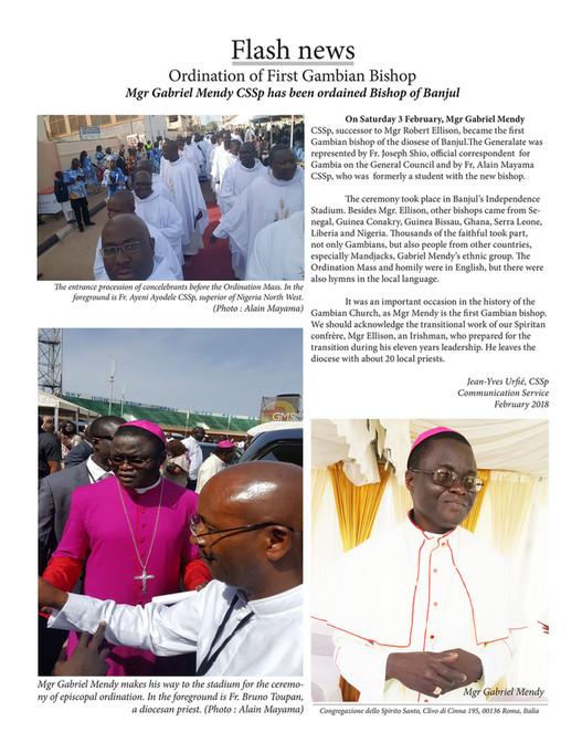 Ordination Of First Gambian Bishop Spiritans Roma