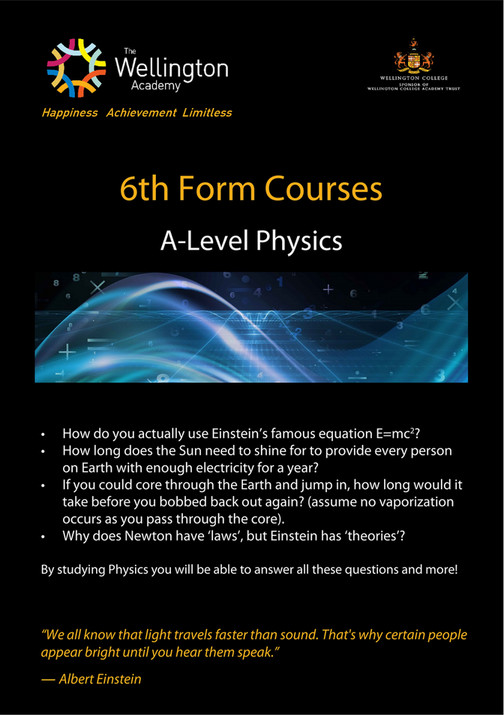 The Wellington Academy - Physics A Level - Page 1 - Created with