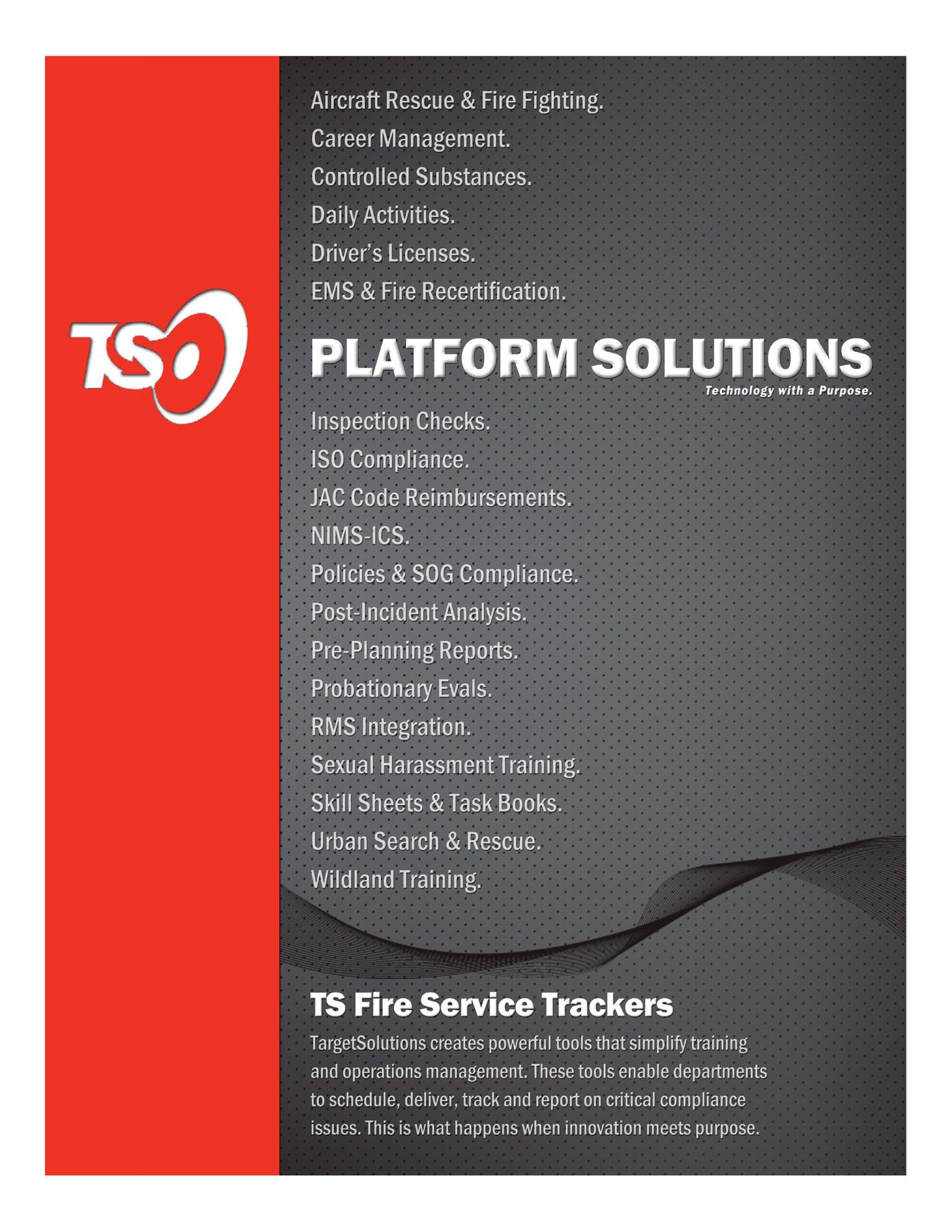 TargetSolutions - Platform Solutions: TS Fire Service