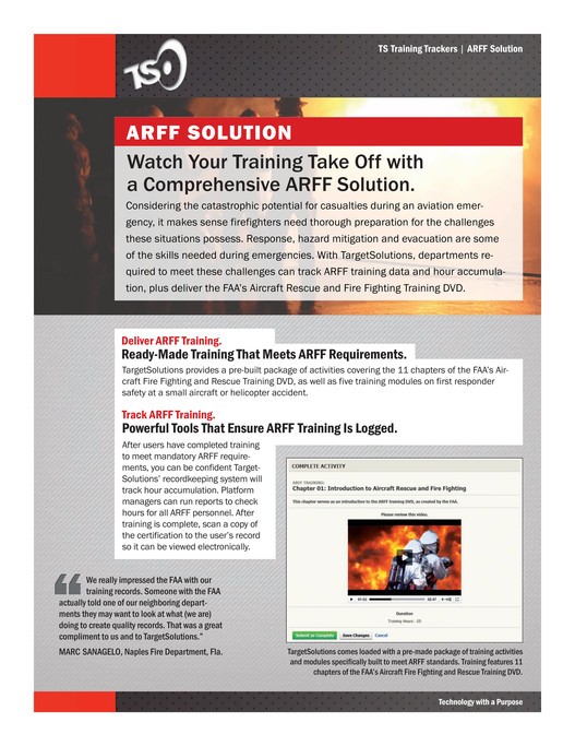 TargetSolutions - Platform Solutions: TS Fire Service Trackers - Page 1