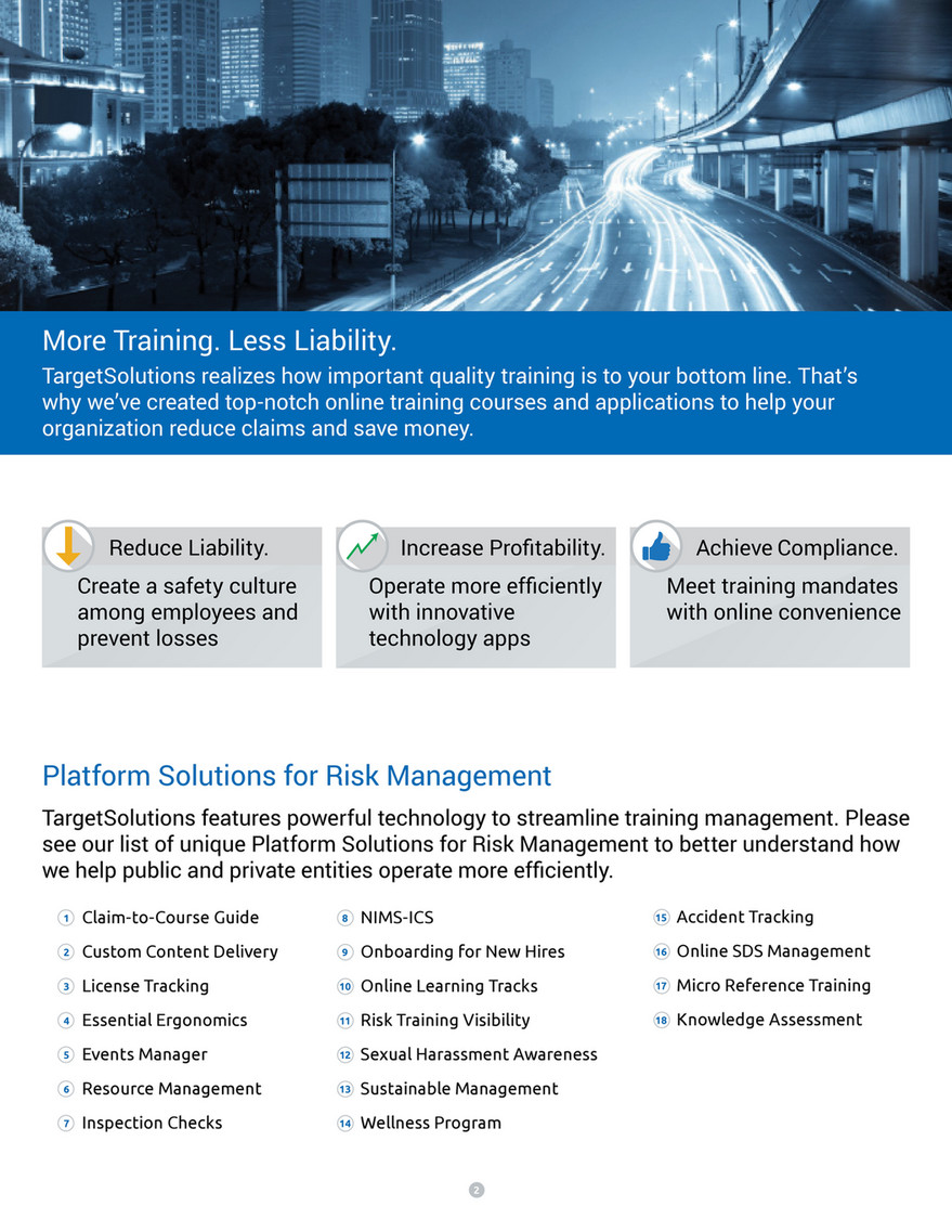 TargetSolutions - Risk Overview - Cities & Munis - Page 2-3