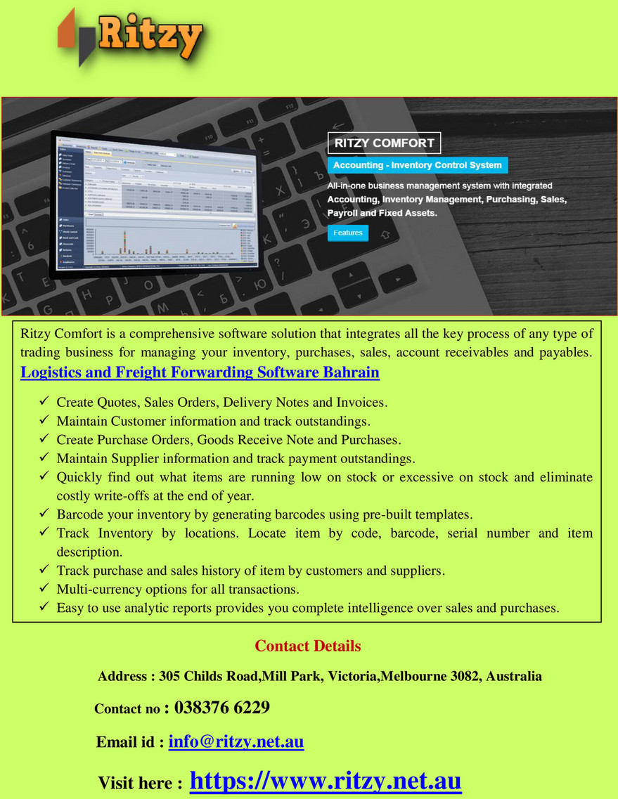ritzy - Logistics and Freight Forwarding Software Bahrain - Page 1