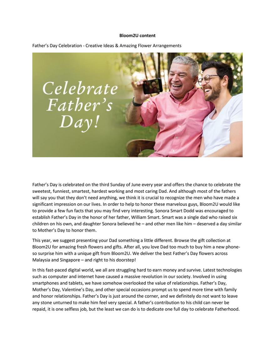 Bloom2u - Father's Day Celebration