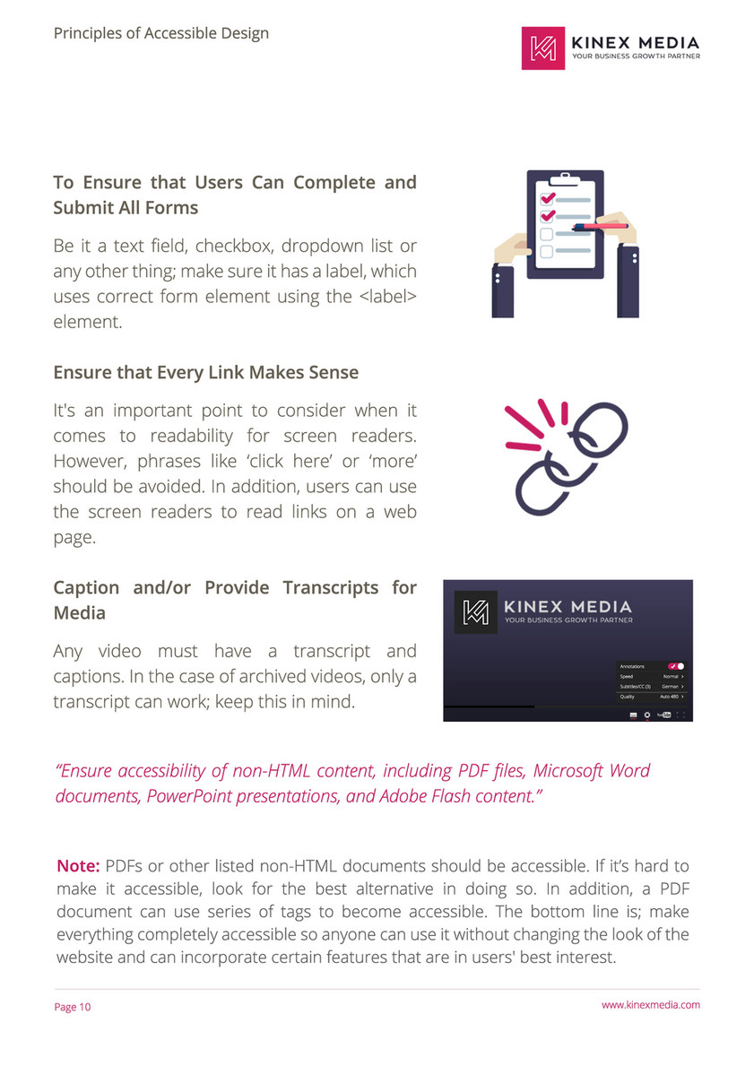 Kinex Media Web Accessibility Guide 2017 By Kinex Media Page 14 Created With Publitas Com