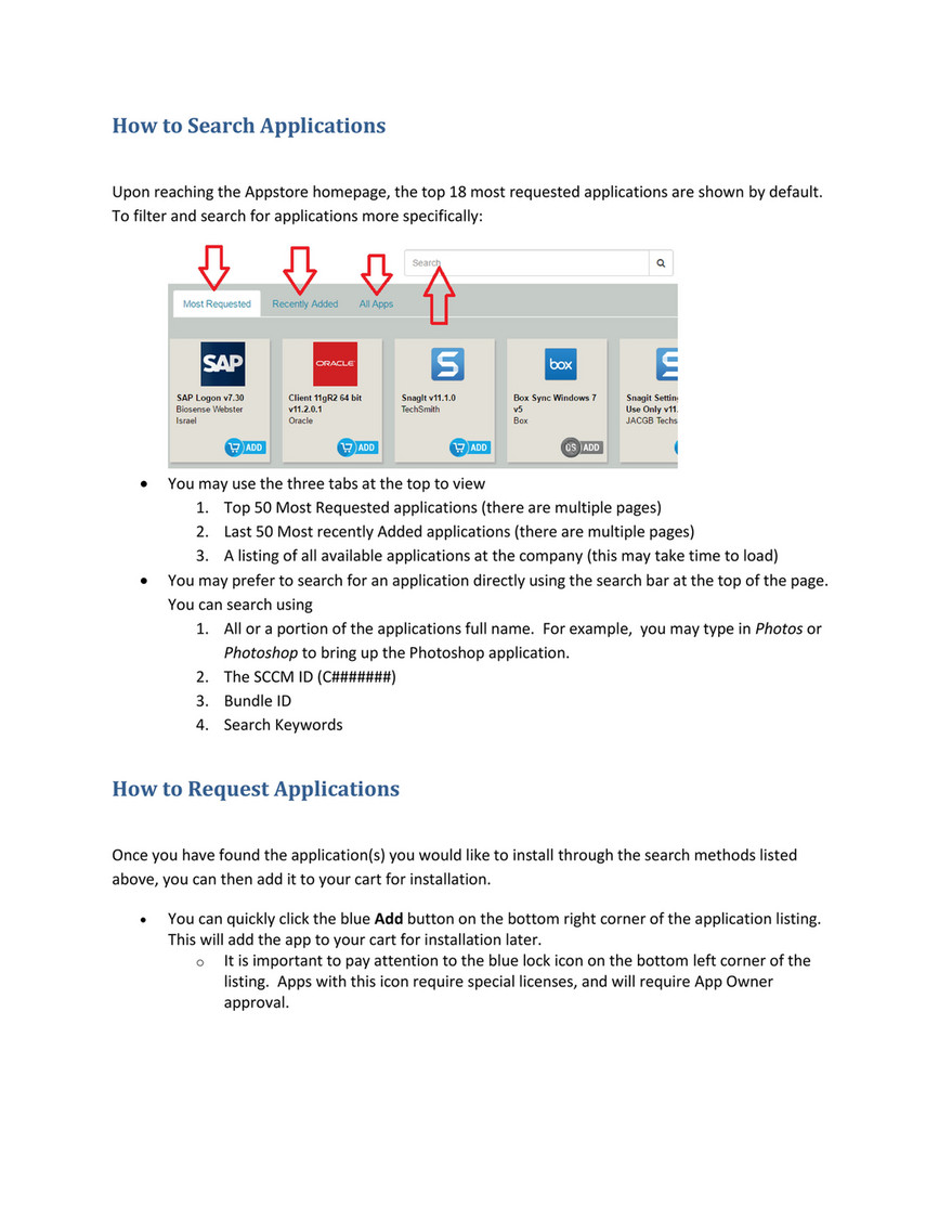 JNJ Appstore - AWS Appstore Users guide_V3 - Page 4 - Created with