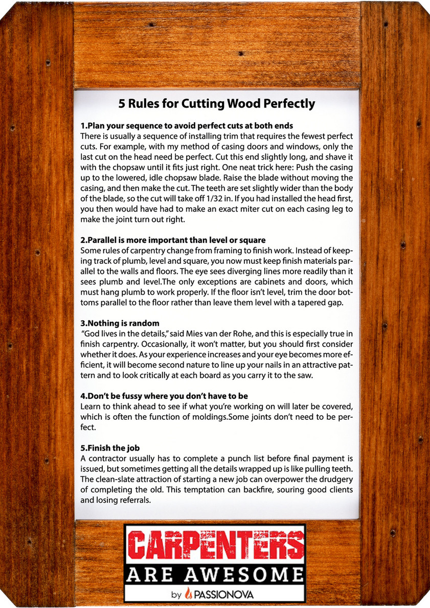 Scaleswift Digital Services Pvt Ltd - 5 rules to cut wood