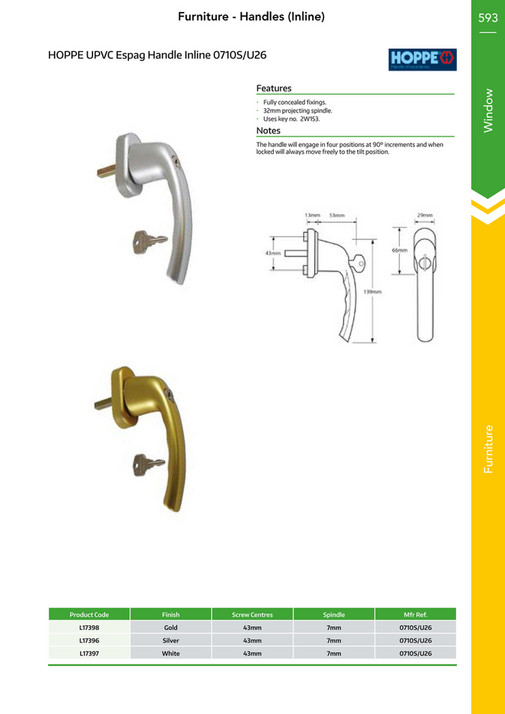 Just The Key - UPVC Door Security Hardware Catalogue - Page 594-595