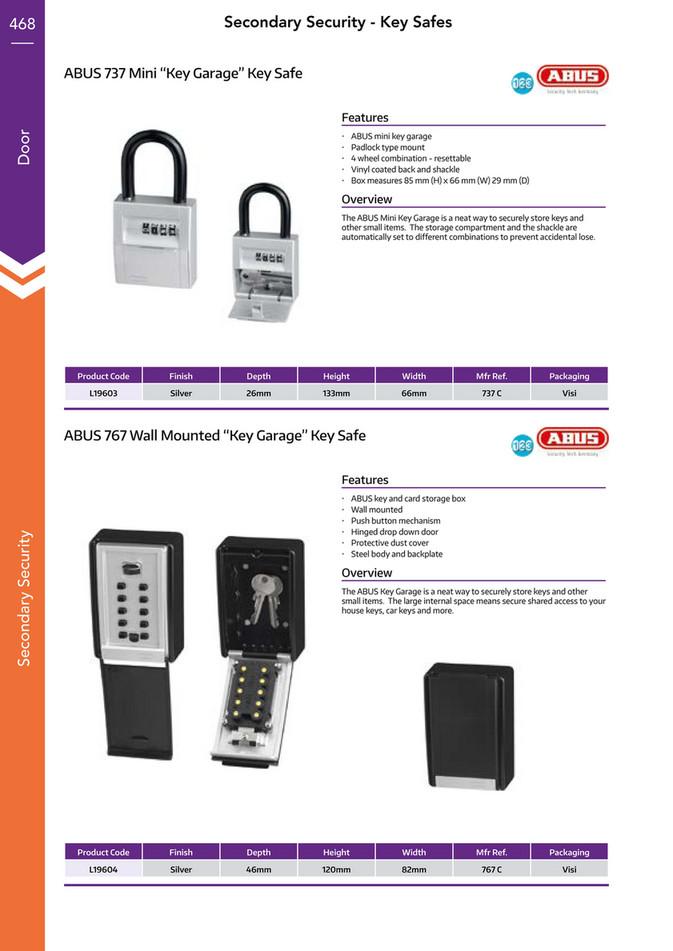 ABUS  KEY GARAGE MINI PADLOCK WITH Storage Compartment to Store Keys