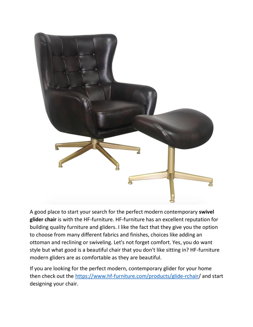 My Publications The Modern Glider Rocking Chair For Your Contemporary Home Page 2 3 Created With Publitas Com