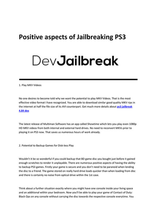 My publications - ps3 jailbreak 4 84 deutsch - Page 1 - Created with