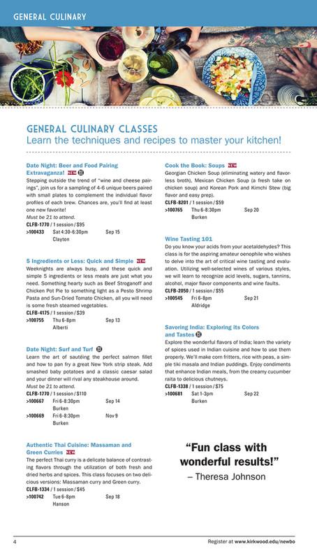 Kirkwood Community College - Kirkwood Culinary Kitchen: NewBo Fall