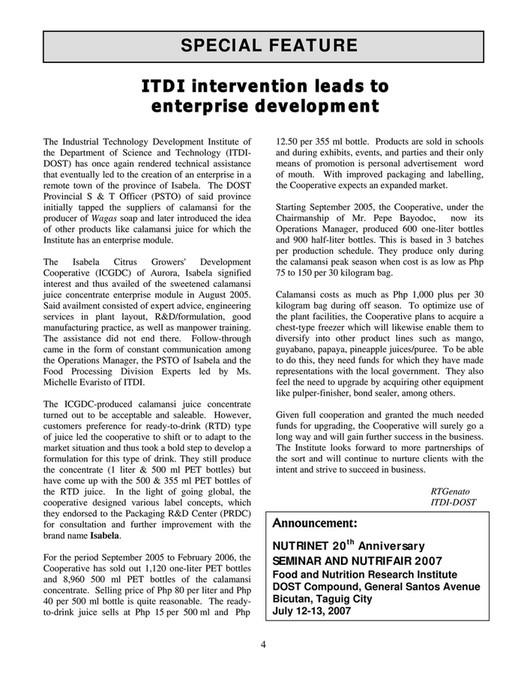 NUTRINET - 2007 VOL 14 NO 1-2 - Page 6-7 - Created with Publitas com