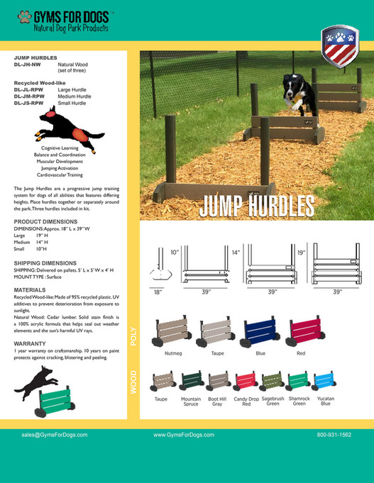 Gyms For Dogs Basic - Gyms For Dogs - Jump Hurdles (RPW) - Page 1