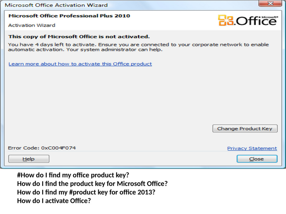 find my ms office 2013 product key