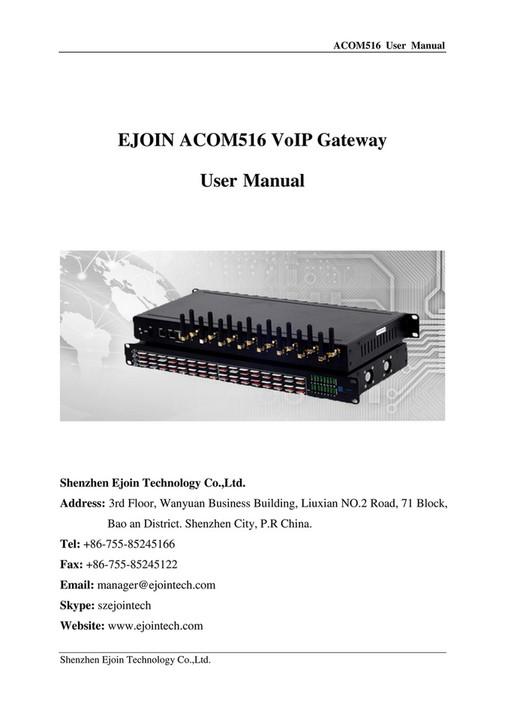 My publications - Ejoin Gateway HTTP SMS API (V1 2) - Page 1