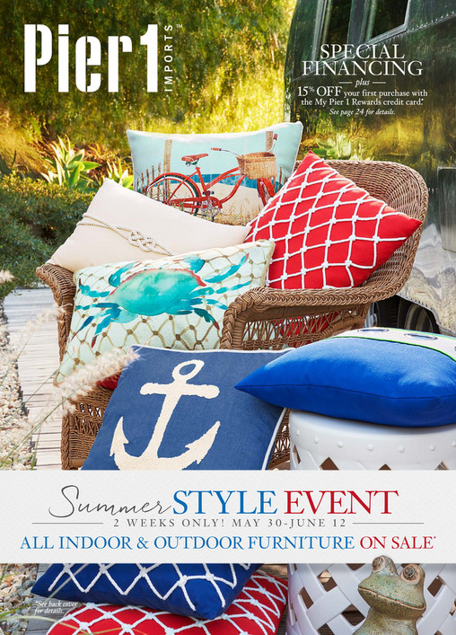 SPECIAL FINANCING plus 15  OFF your first purchase with the My Pier 1  Rewards credit. Pier 1 Catalog   Mailer   Pier 1 Imports