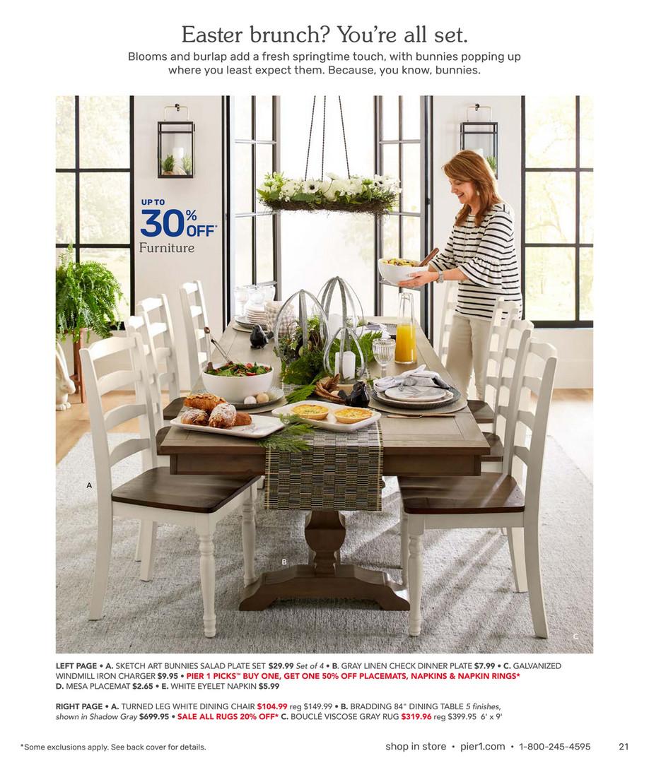 Brilliant Pier 1 Imports February 2019 Mailer Pastel Floral Spiritservingveterans Wood Chair Design Ideas Spiritservingveteransorg
