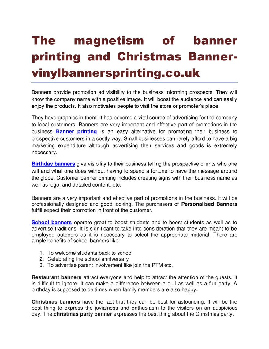 The Magnetism Of Banner Printing And