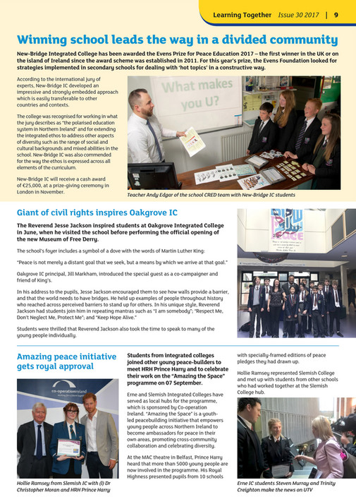 Integrated Education Fund - Learning Together Issue 30 Autumn Winter