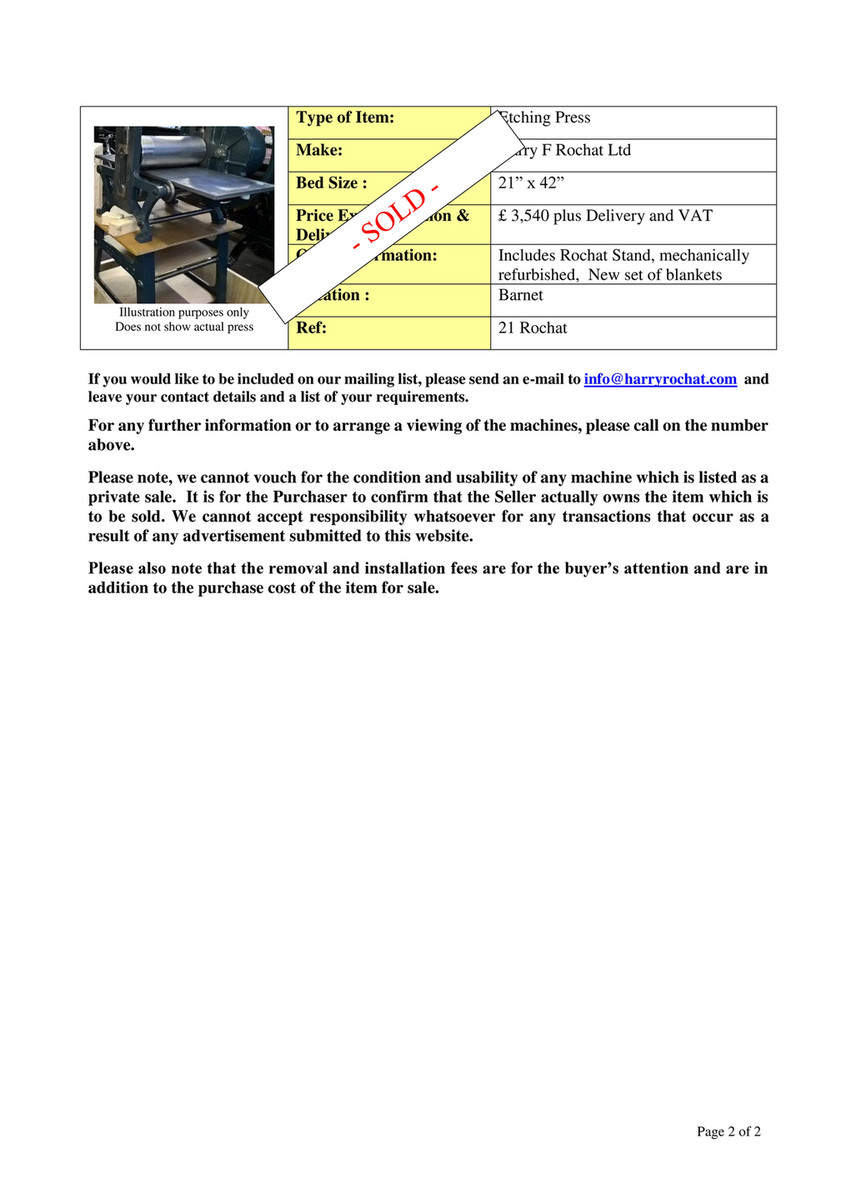 Harry F Rochat Ltd - Second-Hand-Machinery - Page 2
