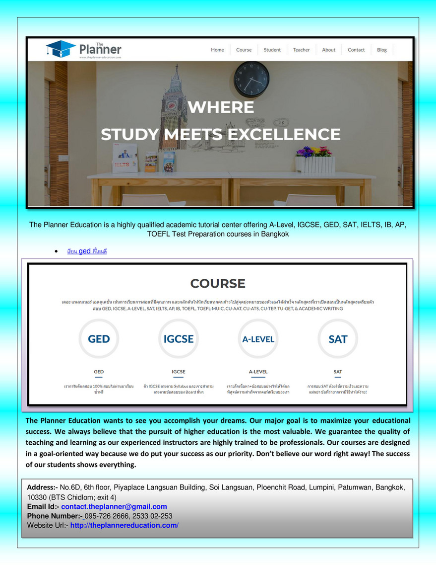 theplannereducation - Where are the ged