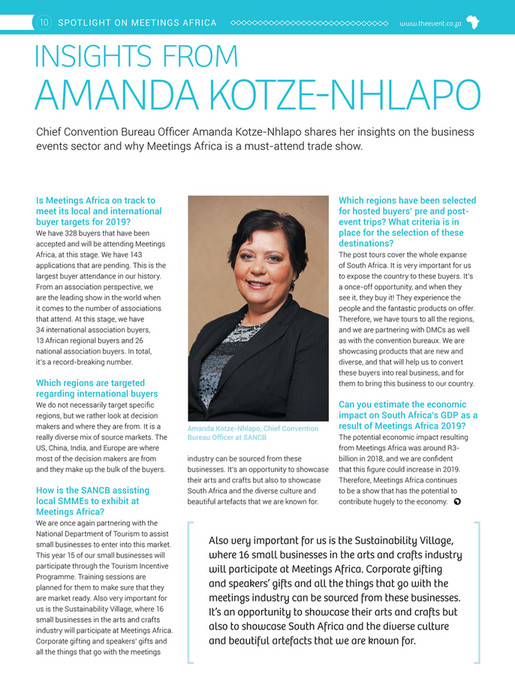 Film & Event Media - Event Africa Issue 01 | 2019 - Page 14-15
