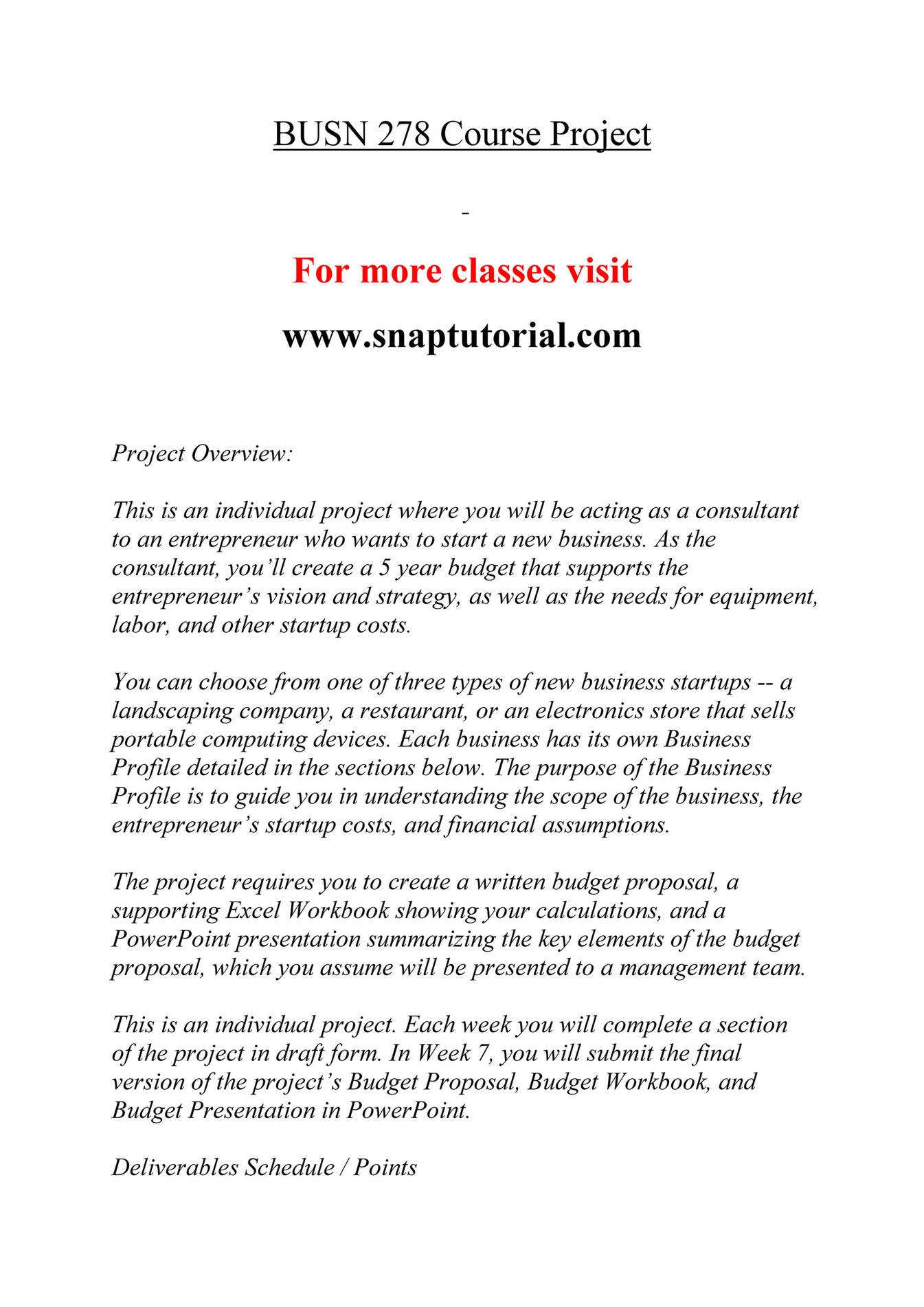 Ashford University - BUSN 278 Course Extrordinary Success