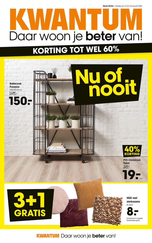Kwantum folder van 13/01/2020 tot 26/01/2020 - Weekpromoties 03 & 04