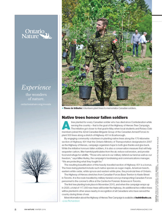 ON Nature magazine - Winter 2018 - Page 6-7