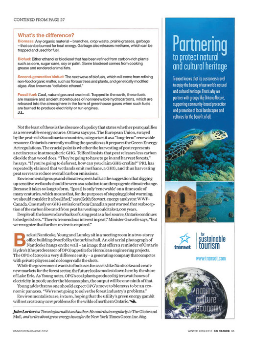 ON Nature magazine - Winter_2009 - Page 36-37