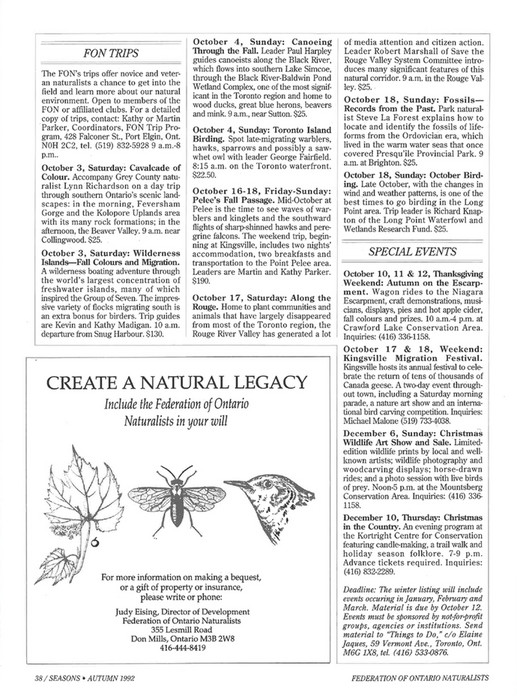 ON Nature magazine - Autumn_1992 - Page 40-41