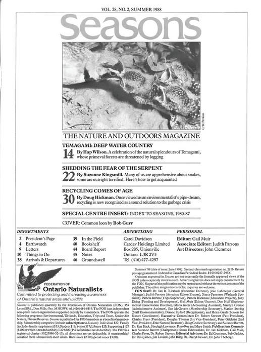 ON Nature magazine - Summer_1988 - Page 4-5