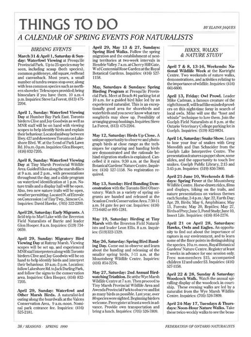 ON Nature magazine - Spring_1990 - Page 36-37