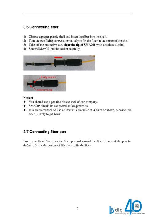 DLC Australia Pty Ltd - PD030 Diode Laser Manual - Page 6-7
