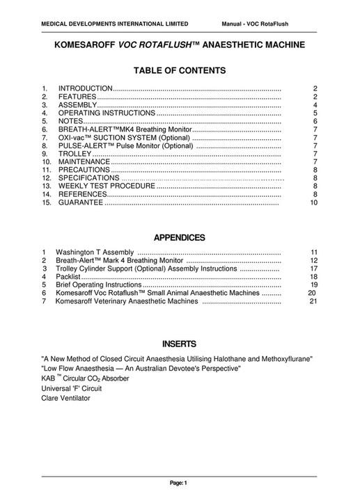 DLC Australia Pty Ltd - VOC Rotaflush TR&WM R2 - Page 1 - Created