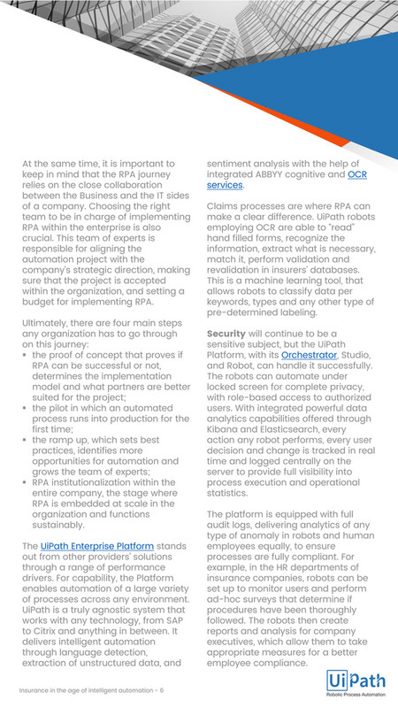 uipath - Insurance and Robotic Process Automation (RPA) - Page 6-7